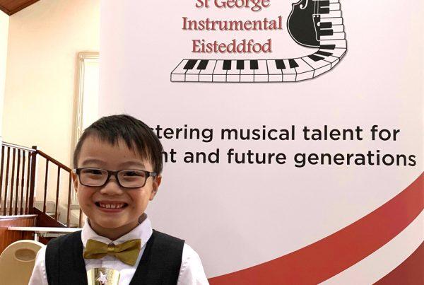Hayden from Clavier Music & Art won Eisteddfod competition
